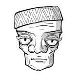 Old sad man. Sketchy portrait of strange sad old man. Vector graphics royalty free illustration