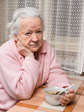 Old sad woman Royalty Free Stock Photo