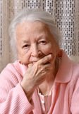 Old sad woman Royalty Free Stock Images