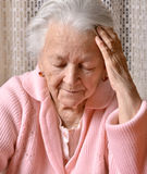 Old sad woman Stock Photos