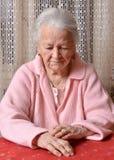 Old sad woman Royalty Free Stock Image
