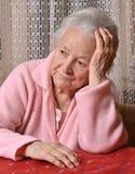 Old sad woman Stock Photos