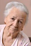 Old sad woman Stock Image