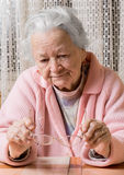 Old sad woman Royalty Free Stock Image