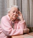 Old sad woman Royalty Free Stock Photography