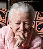 Old sad woman Royalty Free Stock Photo