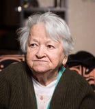 Old sad woman Royalty Free Stock Photos