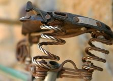Old saddle. Old worn saddle wich isn't used anymore Royalty Free Stock Images