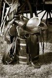 Old Saddle royalty free stock photography