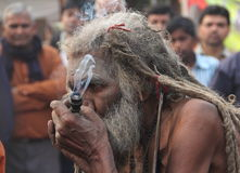 Old Sadhu. Royalty Free Stock Image