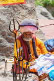 An Old Sadhu in Badrinath, North India Stock Images