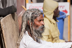 An old sadhu in Gangotri Royalty Free Stock Photography