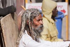 An old sadhu in Gangotri Royalty Free Stock Photography