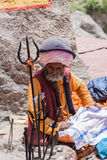 An old sadhu in the Himalayas Stock Photography