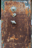 Old safe. An old iron safe box Royalty Free Stock Photo