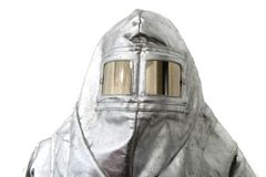 Old safety clothes (fireman, x-raym, etc ) Royalty Free Stock Image