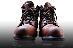 Old safety shoes Royalty Free Stock Image