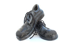 Old Safety Shoes Stock Images
