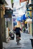 Old Saigon street Stock Image