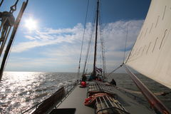 Old Sail Boat in Netherlands royalty free stock photo