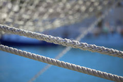 Old sail boat rope Royalty Free Stock Image