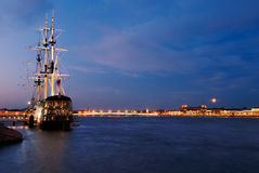 Old sail yacht in Saint-Petersburg Royalty Free Stock Photography