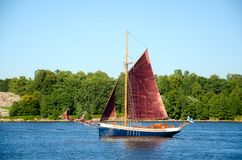 Old sailboat Stock Image