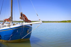 Old Sailboat at the Lake. Was seen in Saxony Stock Photo