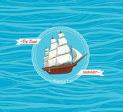 Old sailboat. Summer adventures. Royalty Free Stock Image