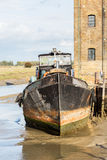 Old Sailing barge house boat at Faversham Kent Stock Image
