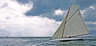 Old sailing boat. In the Vele d'Epoca CUP, Imperia, Italy Stock Photo