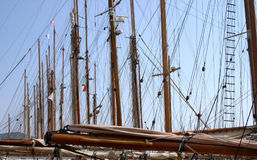Old sailing boat. In the Vele d'Epoca CUP, Imperia, Italy Stock Photos