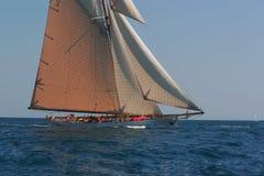 Old sailing boat stock photo