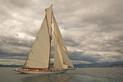 Old sailing boat royalty free stock photography