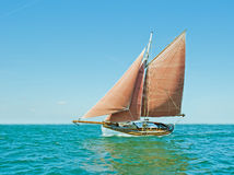 Old sailing boat. On the Baltic Sea on a sunny day Royalty Free Stock Images
