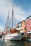 Old sailing boat in Nyhavn, Copenhagen Royalty Free Stock Photos
