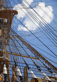 Old sailing boat rigging Royalty Free Stock Images