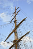Old sailing boat rigging Royalty Free Stock Photography