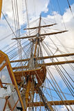 Old sailing boat rigging Stock Photography