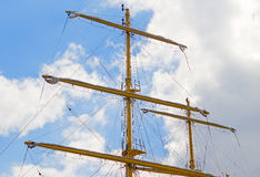 Old sailing boat rigging. The Old sailing boat rigging Stock Images