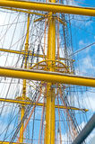 Old sailing boat rigging. The Old sailing boat rigging Royalty Free Stock Photo