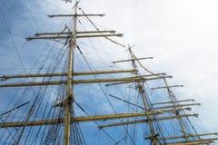 Old sailing boat rigging Royalty Free Stock Photo