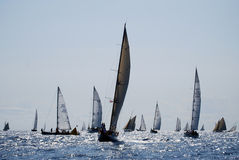 Old sailing boats in Imperia Stock Photo