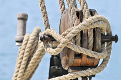 Old sailing equipment Stock Image