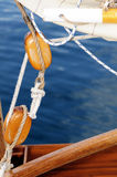 Old sailing pulleys Royalty Free Stock Photography