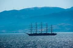 Old sailing ship Stock Images