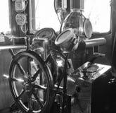 Old sailing ship commander deck Stock Photos