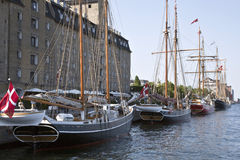 Old sailing ship in Copenhagen Stock Photos