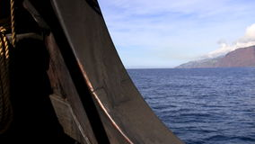 Old sailing ship detail stock video footage