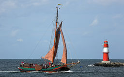 Old sailing ship at Hansesail 2014 (02) Royalty Free Stock Image